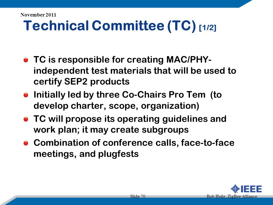 Technical Committee (TC) [1/2]